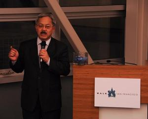 Mayor Lee at Walk SF Member Event